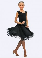 Dance Me Юбка для девочки ЮЛ274-14, масло, черный