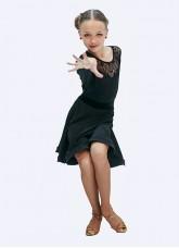 Dance Me Юбка для латины ЮЛ185-14 детская, масло, черный