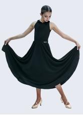 Юбка для стандарта детская ЮС435 Dance Me, масло+бархат, черный