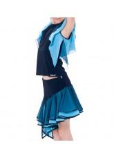 Dance Me Юбка ЮЛ146-3, масло / сетка, черный, голубой