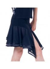 Dance Me Юбка для девочки ЮЛ146-3, масло / сетка, черный, серый