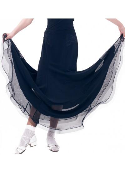 Dance Me Юбка для девочки ЮС184-4, масло / кружево, черный