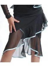 Dance Me Юбка для девочки ЮЛ14, масло / сетка, черный, голубой