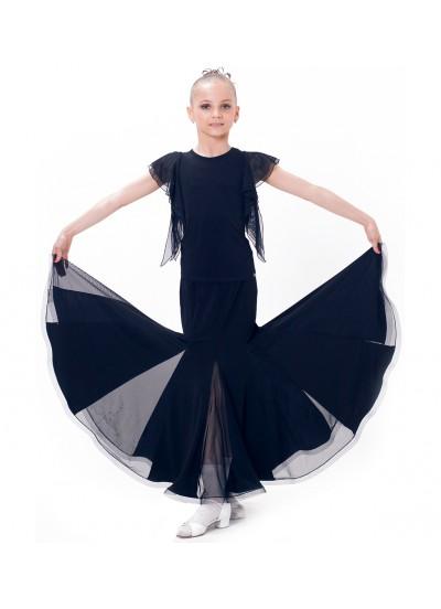 Dance Me Юбка для девочки ЮС157-Кри, масло / сетка, черный
