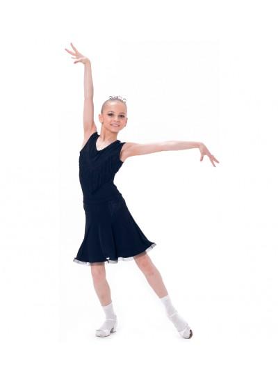 Dance Me Юбка для девочки ЮЛ166-4, масло / кружево, черный