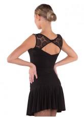 Блуза женская БЛ351-11 Dance.me, Масло+гипюр, Черный