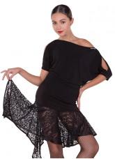 Блуза женская БЛ361 Dance.me,  Масло, Черный