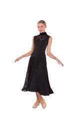 Платье женское Стандарт ПС426 Dance.me, масло+гипюр, черный