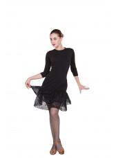Платье женское Латина ПЛ439 Dance.me, Украина, масло+гипюр, черный