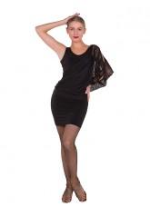 Платье Латина ПЛ240-10 женское Dance.me, масло / сетка, черный