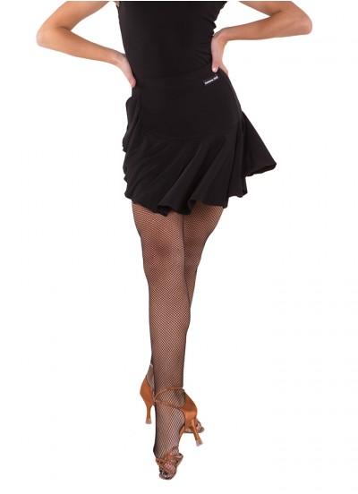 Юбка женская для латины ЮЛ440 Dance Me, масло, черный
