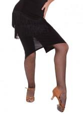 Юбка женская Латина ЮЛ377-14, масло+бахрома, черный