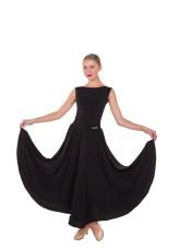 Юбка женская для стандарта ЮС435 Dance Me,  масло+бархат, черный