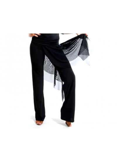 Dance Me Брюки женские БРЛ5, кристал / сетка, черный