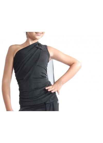 Dance Me Блуза женская БЛ40, масло / сетка, черный