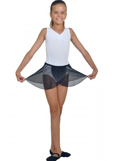 Dance Me Хитон детский ХТ59 сетка, резинка, кружево, черный