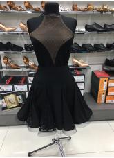 Блуза женская БЛ386-17 Dance.me, Масло+сетка, Черный