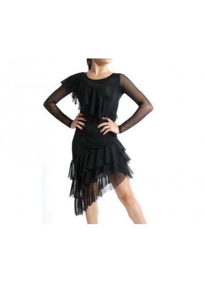 Dance Me Платье женское ПЛ36, масло / сетка, черный