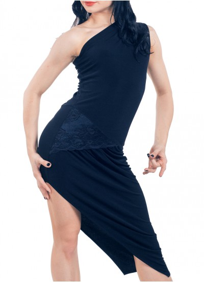 Dance Me Платье женское ПЛ173-4, масло / кружево, черный