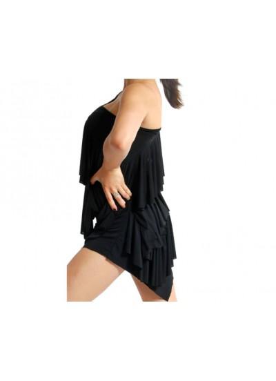 Dance Me Платье женское ПЛ18, масло / сетка, черный