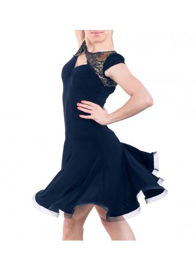 Dance Me Платье женское PL163-4#, масло / кружево, черный, золото