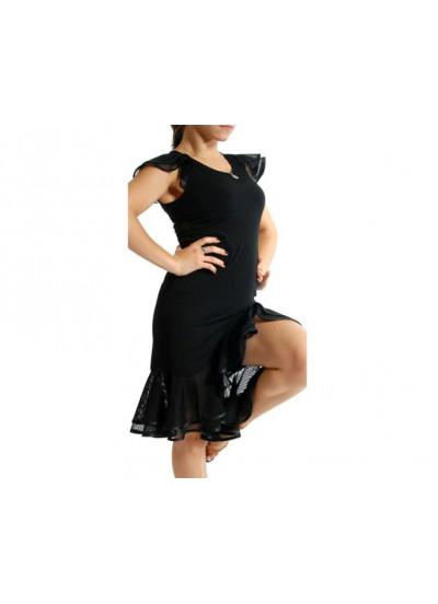 Dance Me Платье женское ПЛ35, масло / сетка, черный