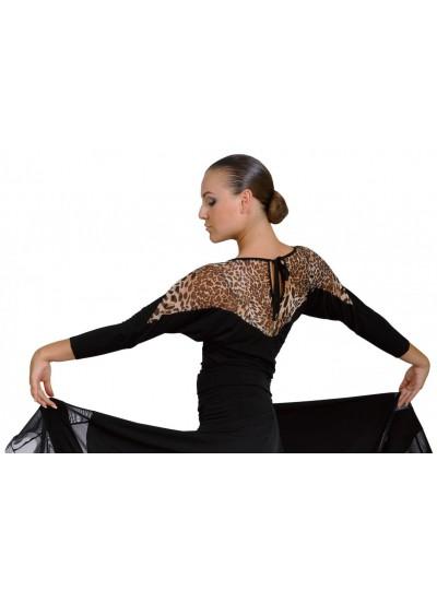 Dance Me Блуза женская БЛ153-2, масло / сетка, лео