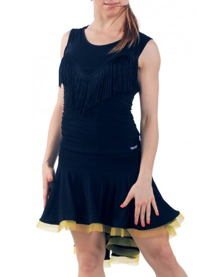 Dance Me Юбка для латины ЮЛ207-Кр-Цв женская, масло, черный