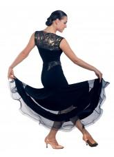 Dance Me Блуза женская БЛ159-4, масло / кружево, черный, золото