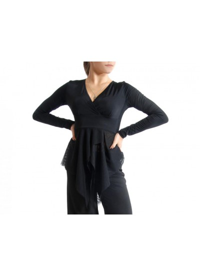 Dance Me Блуза женская БЛ37, масло, черный