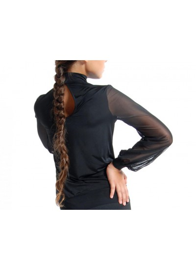 Dance Me Блуза женская БЛ16, масло / сетка, черный