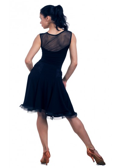 Dance Me Блуза женская БЛ160-4, масло / сетка / кружево, черный