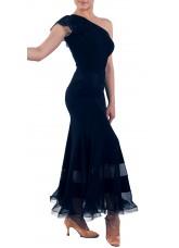 Dance Me Юбка для стандарта ЮС184-4 женская, масло / кружево, черный