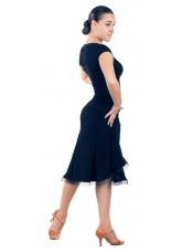 Dance Me Блуза женская БЛ195, масло / бахрома, черный