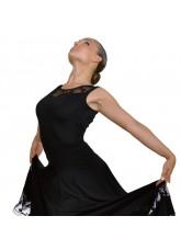 Dance Me Блуза женская БЛ105-1, масло / гипюр, черный