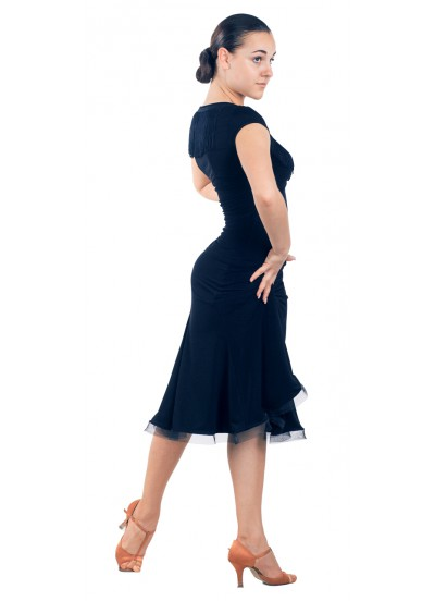 Dance Me Юбка для латины ЮЛ185 женская, масло, черный
