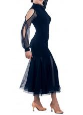 Dance Me Блуза женская БЛ196, масло / сетка, черный