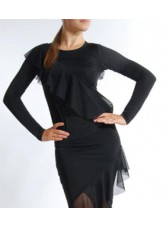 Dance Me Блуза женская БЛ31, масло / сетка, черный