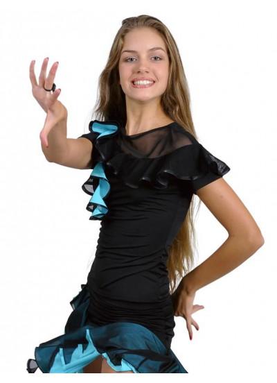 Dance Me Блуза женская БЛ96Кр-3, масло / сетка, голубой