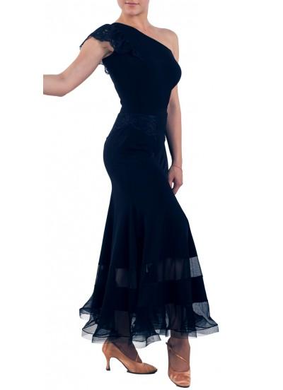 Dance Me Блуза женская БЛ162-4, масло / кружево, черный