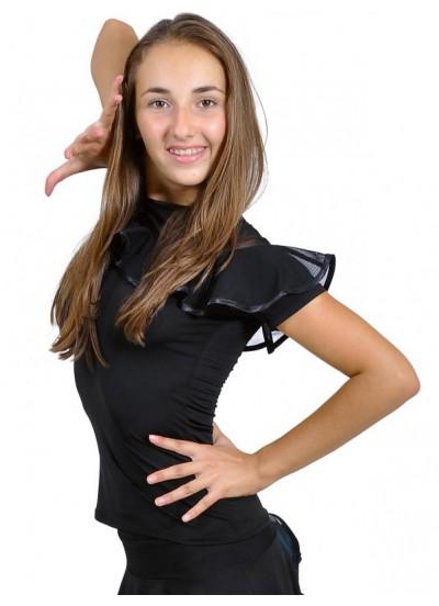 Dance Me Блуза женская БЛ96Кр-1, масло / сетка, черный