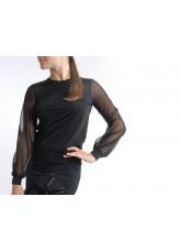 Dance Me Блуза женская БЛ33, кристал / сетка, черный