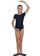 Dance Me Купальник детский ККР2, рукав короткий, хлопок, черный