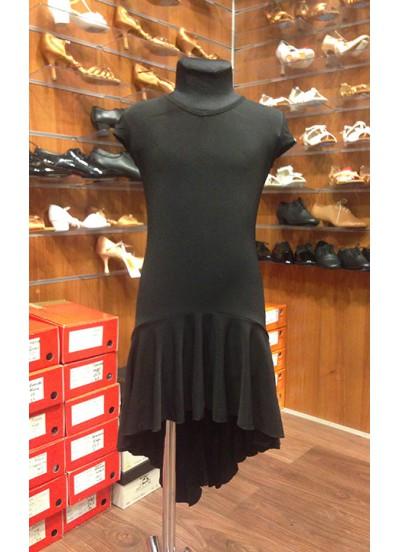 Платье Латина ПЛ71-6 Dance.me, Украина, Масло+сетка, Черный