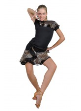 Dance Me Юбка для латины ЮЛ93-2 женская, масло / сетка, лео