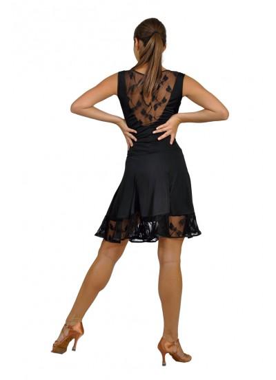 Dance Me Платье женское ПЛ120-1, масло / гипюр, черный