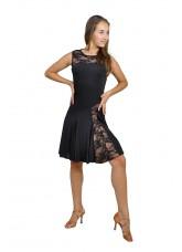Dance Me Платье женское ПЛ123, масло / гипюр, черный, загар