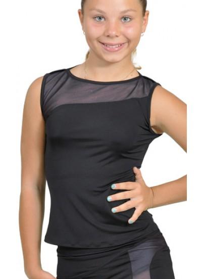 Dance Me Блуза детская БЛ119-2, масло / сетка, серый