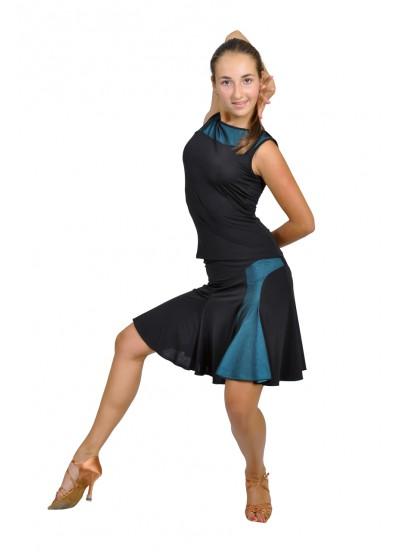 Dance Me Блуза женская БЛ119-2, масло / сетка, голубой