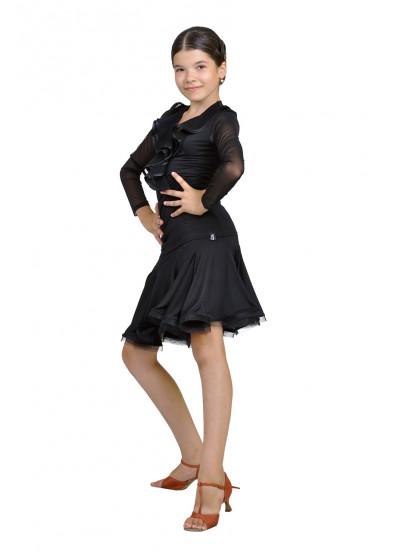 Dance Me Блуза женская БЛ39, масло / сетка, черный